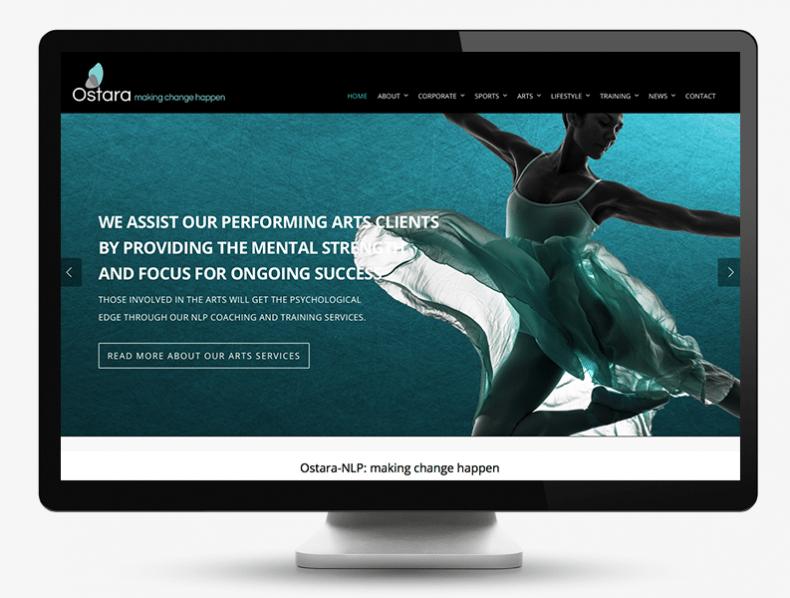 Ostata NLP branding and bespoke website