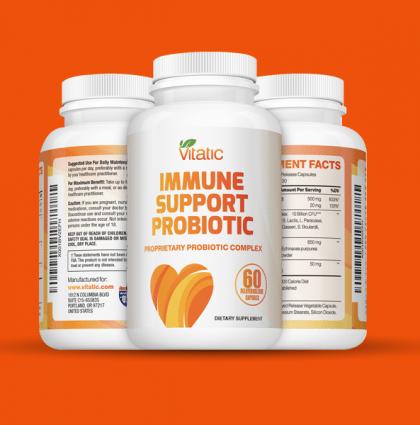 Vitatic branding and supplements packaging design