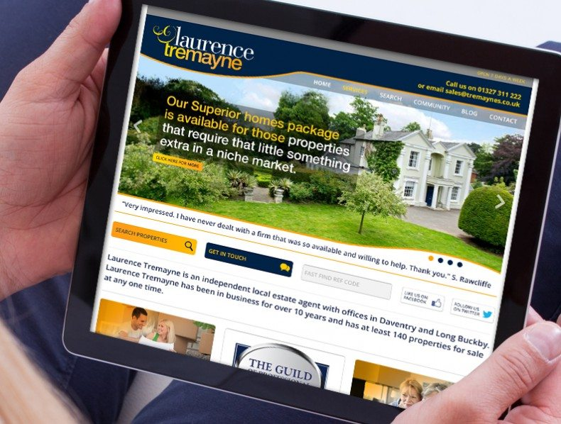 Brand and bespoke web build for estate agency