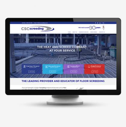 CSC Screeding: Bespoke website