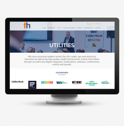 Faversham House: Corporate website for leading exhibition company