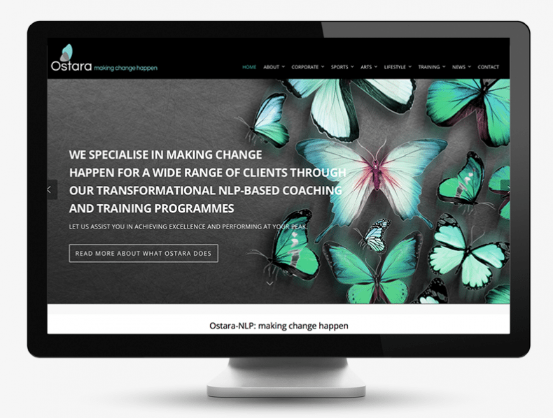 Ostata NLP branding and bespoke website
