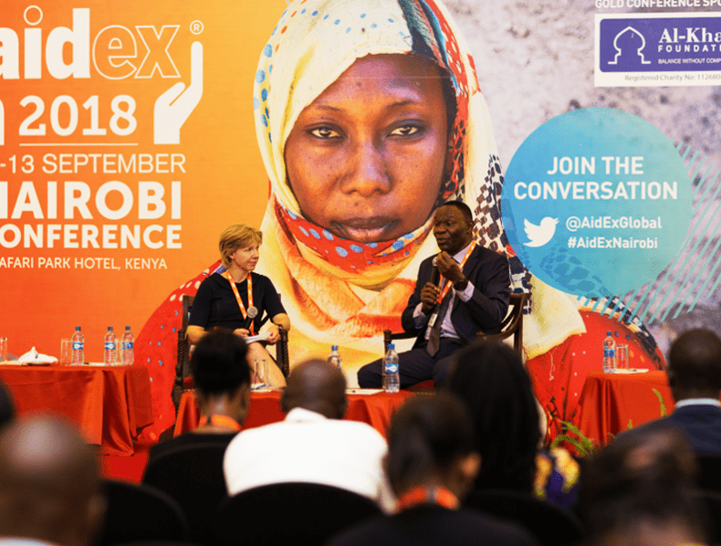 Branding Aidex 2018/19 – The leading platform for professionals in humanitarian aid and international development.